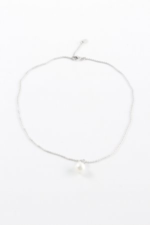 Esprit Halskette weiß-silberfarben Elegant