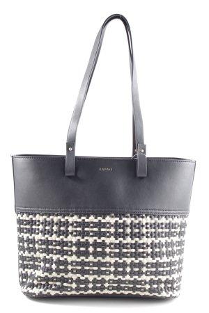 Esprit Handtas zwart-wolwit volledige print casual uitstraling