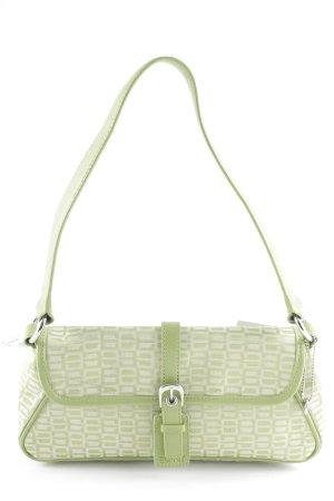 Esprit Handtasche hellgrün-grün abstraktes Muster Casual-Look