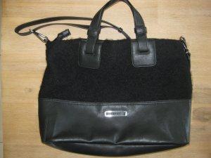 Esprit Handtasche im Materialmix (schwarz)