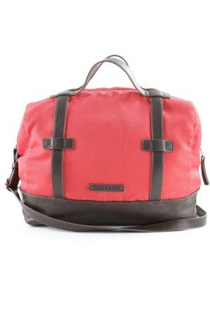 Esprit Handtasche rot-dunkelbraun Casual-Look