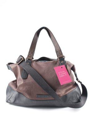 Esprit Handtasche schwarz-dunkelbraun Casual-Look
