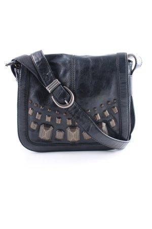 Esprit Handtasche schwarz Schmucksteinverzierung