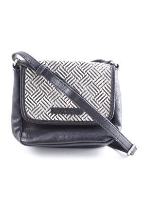 Esprit Handtasche schwarz-weiß Zackenmuster Casual-Look