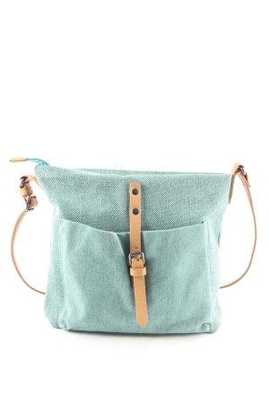 Esprit Handtasche türkis-hellbraun klassischer Stil