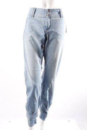 Esprit Haremshose aus Jeans hellblau