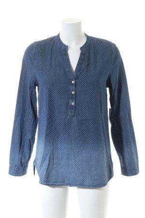 Esprit Hemd-Bluse dunkelblau-stahlblau Farbverlauf Casual-Look