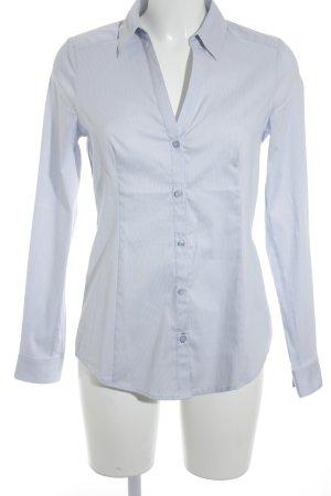 Esprit Hemd-Bluse weiß-hellblau Streifenmuster Business-Look