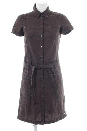 Esprit Hemdblousejurk bruin simpele stijl