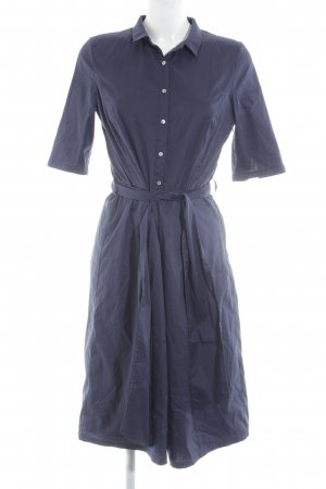 Esprit Hemdblousejurk donkerblauw simpele stijl