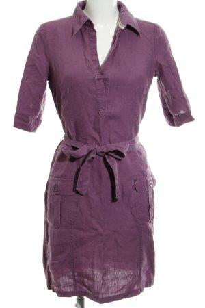 Esprit Robe chemise lilas Motif de tissage style décontracté