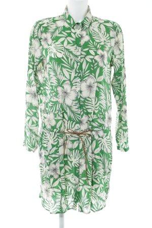 Esprit Hemdblousejurk groen bloemen patroon