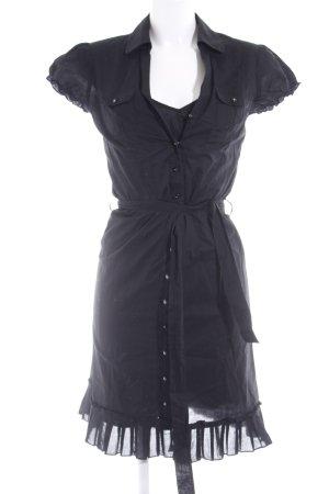 Esprit Hemdblusenkleid schwarz Casual-Look