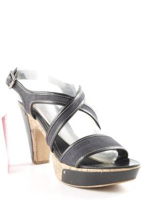 Esprit High Heel Sandal black-light brown business style