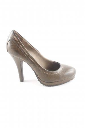 Esprit High Heels bronzefarben Casual-Look