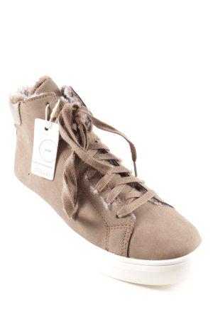 Esprit High Top Sneaker graubraun-weiß Casual-Look