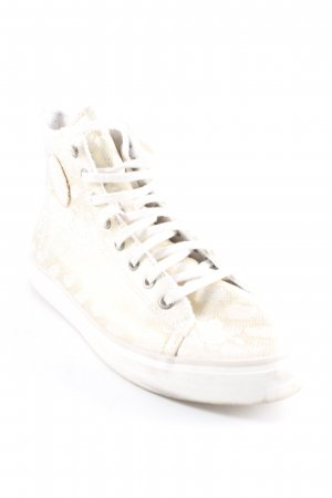 Esprit High Top Sneaker weiß-goldfarben Animalmuster Urban-Look