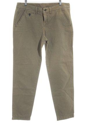 Esprit Pantalon taille haute ocre style décontracté