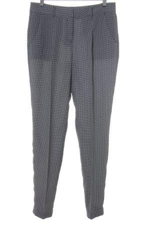 Esprit Pantalone a vita alta nero-bianco motivo a zig-zag elegante