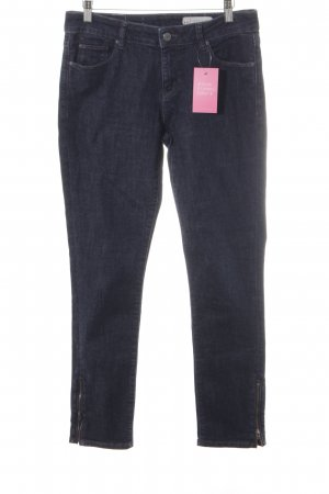 Esprit Hoge taille jeans blauw gestippeld casual uitstraling