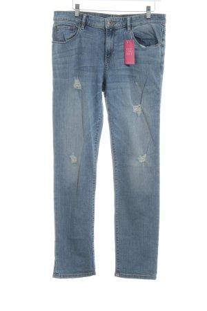 Esprit Jeans a vita alta blu fiordaliso-azzurro stile casual