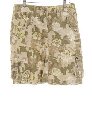 Esprit High Waist Skirt beige-olive green camouflage pattern casual look