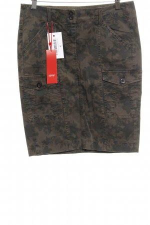 Esprit High Waist Rock Camouflagemuster Military-Look