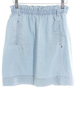 Esprit High Waist Rock himmelblau Jeans-Optik
