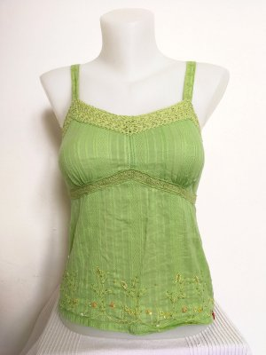Esprit Crochet Top lime-green-pale green