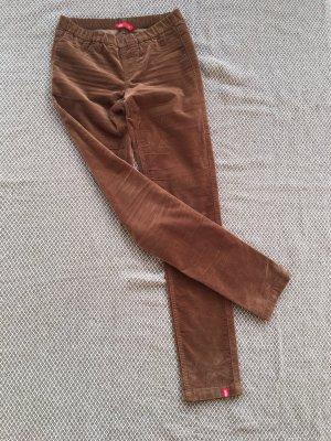 Esprit Pantalone di velluto a coste marrone