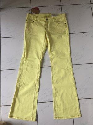 Esprit Hose bootcut gelb