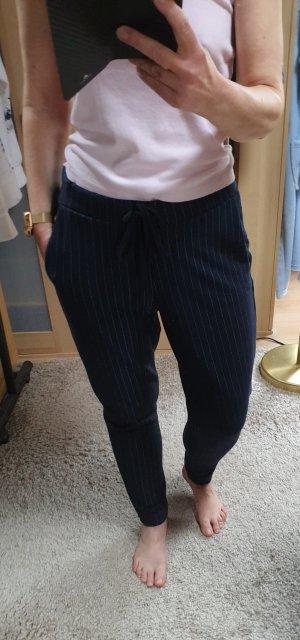 Esprit Pantalón deportivo azul oscuro-blanco puro