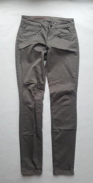 Esprit Low-Rise Trousers grey cotton