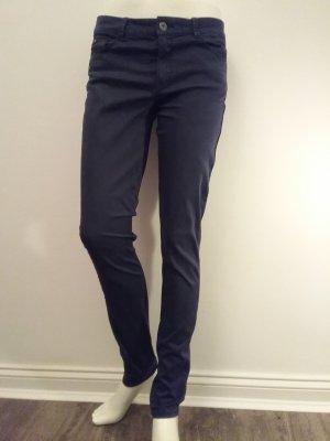 de.corp by Esprit Lage taille broek donkerblauw Katoen