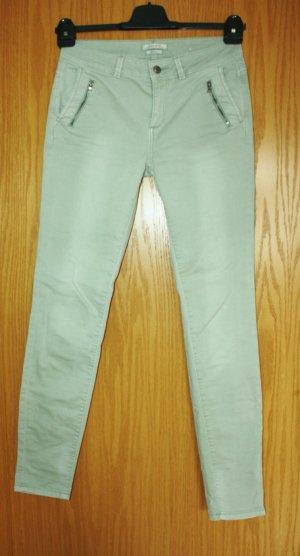 Esprit Pantalon cigarette vert pâle coton