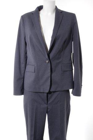 Esprit Hosenanzug dunkelblau-graublau Karomuster Business-Look