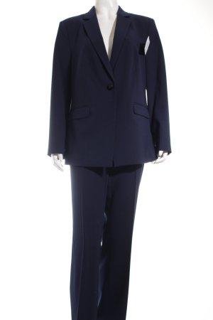 Esprit Hosenanzug dunkelblau-weiß Nadelstreifen Business-Look
