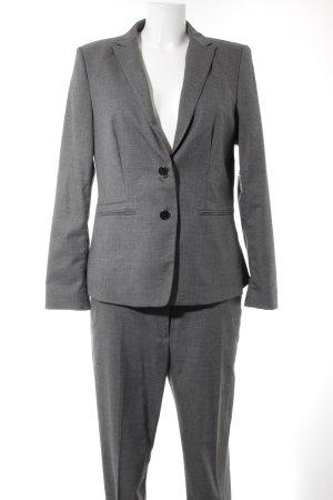 Esprit Hosenanzug grau-schwarz meliert Business-Look