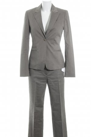 Esprit Trouser Suit grey brown-dusky pink pinstripe business style