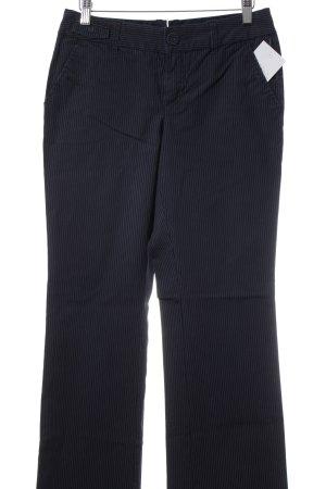 Esprit Lage taille broek blauw-wit gestreept patroon klassieke stijl
