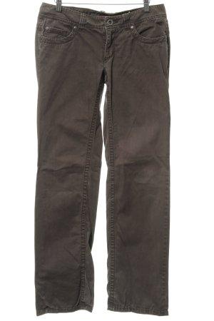 Esprit Pantalon taille basse gris brun style décontracté