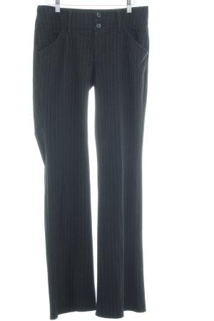 Esprit Hüfthose schwarz-weiß Nadelstreifen Business-Look