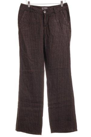 Esprit Lage taille broek wolwit krijtstreep zakelijke stijl