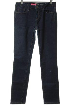 Esprit Jeans vita bassa blu scuro-cognac stile jeans
