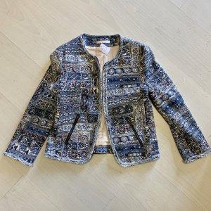 ESPRIT Jacke blau gemustert Grösse S