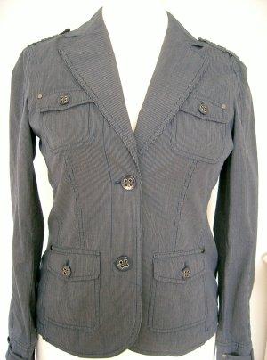 ESPRIT -Jacke-d.-blau-weiss,zart gestreift- knitterfrei -Gr. 40