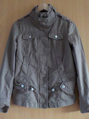 Esprit Jacket khaki-green grey cotton