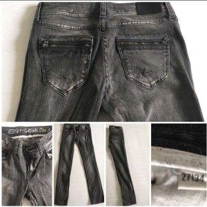 Esprit Jeans 27/34 Used-Look grau