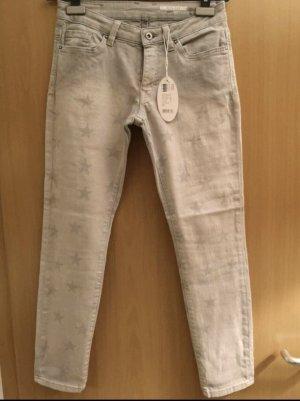 Esprit Jeans 27 grau Sterne Neu mit Etikett
