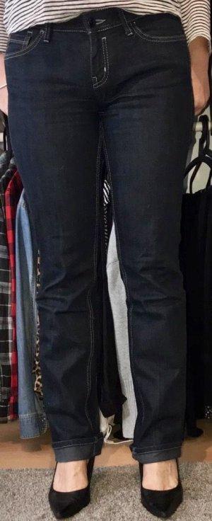 Esprit Jeans coupe-droite bleu foncé